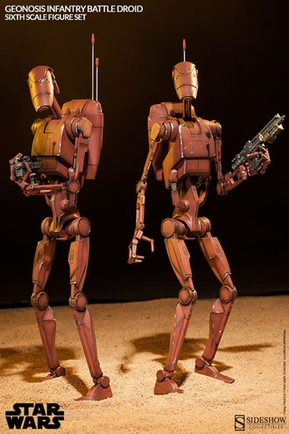 Geonosis Infantry Battle Droids 1:6 Scale Figure Set