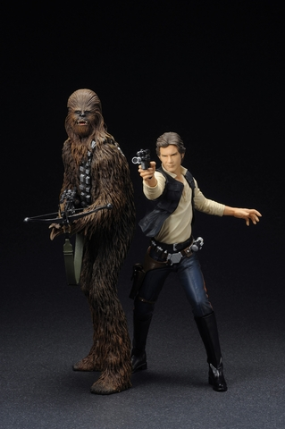 Han Solo and Chewbacca ARTFX+ Statue Set