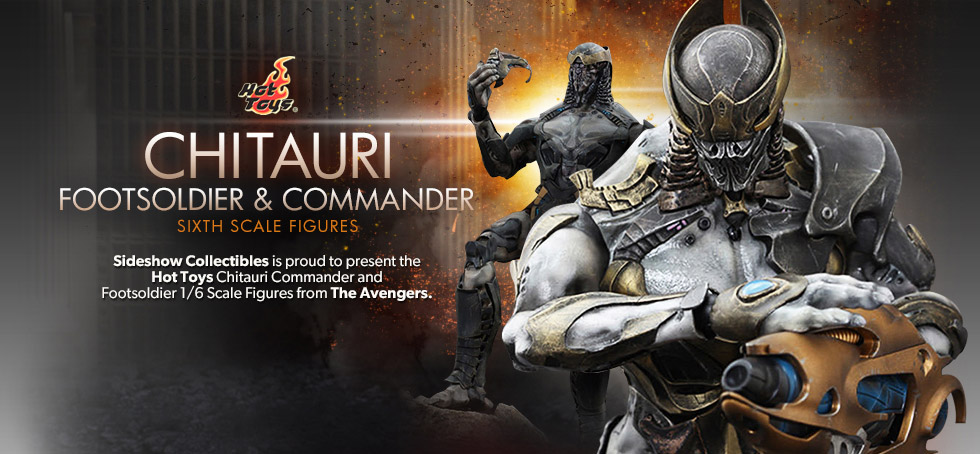 Hot Toys Avengers Chitauri Commander and Footsoldier Sixth Scale Figures
