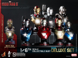 Iron Man 3 Collectible Bust 8 Piece Set