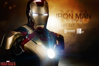 Iron Man Mark 42 Life Size Bust