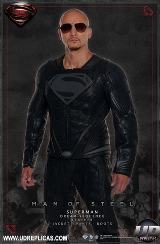 Man of Steel Superman Black Leather Jacket