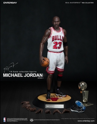 Michael Jordan Real Masterpiece 1:6 Scale Figure (#23 Home Version)