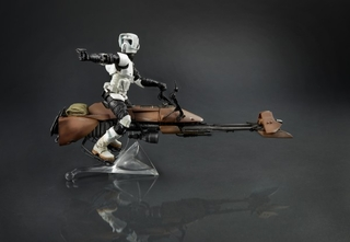 Star Wars Black Series Deluxe Speeder Bike with Biker Scout