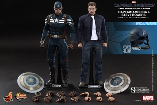 Steve Rogers and Captain America Stealth S.T.R.I.K.E. Suit 1/6 Scale Figure Set