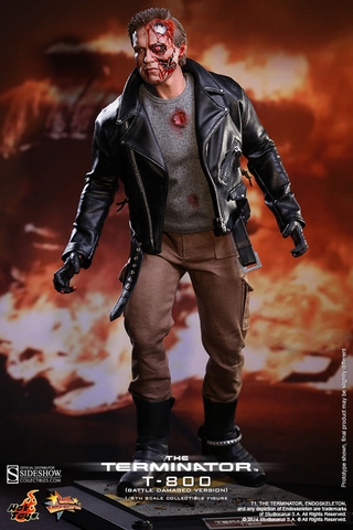 The Terminator T-800 Battle Damaged 1/6 Scale Figure