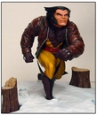 Wolverine in Snow Statue