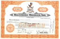 Baltimore Orioles Stock 1981