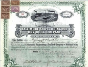 Baltimore Shipbuilding & Dry Dock Stock 1902