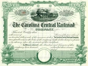 Carolina Central RR Stock Unissued
