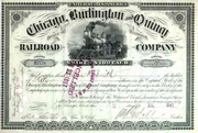 Chicago Burlington & Quincy RR Stock 1890s