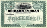 Chicago & Texas RR Stock 189_