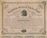 Confederate Bond (Criswell-121) 1863