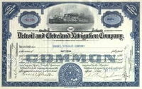 Detroit & Cleveland Navigation Co Stock 1930