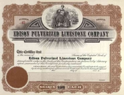 Edison Pulverized Limestone Co Stock 19__
