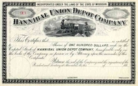 Hannibal Union Depot Co Stock 188_