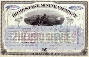 Homestake Mining Stock signed J. B. Haggin 1900