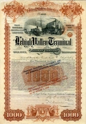 Lehigh Valley Terminal RW Bond 1891