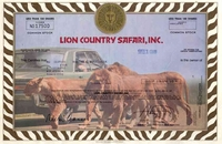 Lion Country Safari Stock 1980