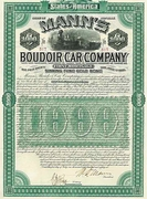Mann's Boudoir Car Bond 1886