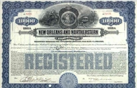 New Orleans & Northeastern RR Bond 1917