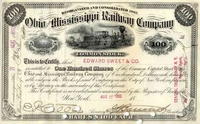 Ohio & Mississippi RW Stock 1893