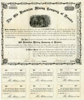 Old Dominion Mining Co of Nevada Bond 1868