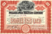 Philadelphia Traction Stock signed by George Widener 1906