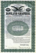 Rowland Graphite $500 Gold Bond 1907