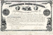 Scarce $500 Confederate Bond (Criswell-12A) 1863