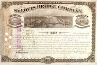 St Louis Bridge Co Stock 1884