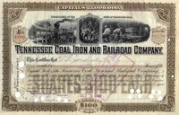 Tennessee Coal Iron & RR (Early DOW Stock) 1900