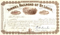 Tunnel Railroad of St Louis Stock 19__