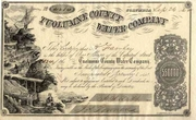 Tuolumne County Water Co Stock 1862