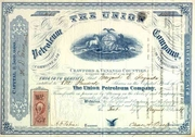 Union Petroleum Co Stock 1864