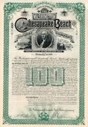 Washington & Chesapeake Beach RW Bond 1893