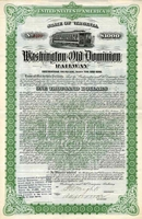 Washington & Old Dominion RW Bond 1911