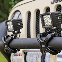 Jeep JK Bumper Light Mounts (2007-2014 Wrangler)
