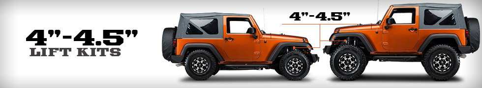 Jeep Wrangler Lift Kits 4 - 4.5 Inch