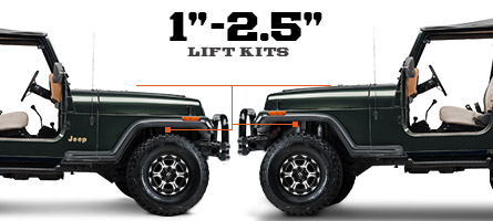 Jeep YJ Lift Kits 1 - 2.5 Inch (1987-1995 Wrangler)