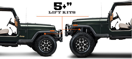 "Jeep YJ Lift Kits 5"" & Up (1987-1995 Wrangler)"