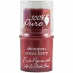 100% Pure: Fruit Pigmented Lip & Cheek Tint - Shimmery Cocoa Berry, 0.26 oz