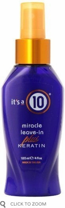 It's A 10 Miracle Leave-In Plus Keratin Protective Conditioner Treatment 4 oz