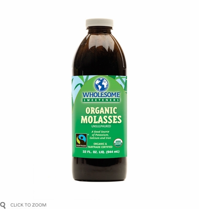 Wholesome Sweeteners: Organic Molasses Unsulphured Non-GMO, 32 oz