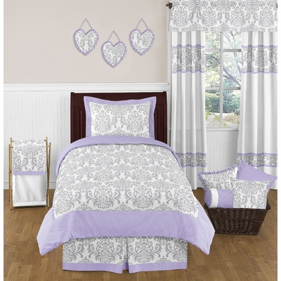 elizabeth lavender and gray twin bedding collection