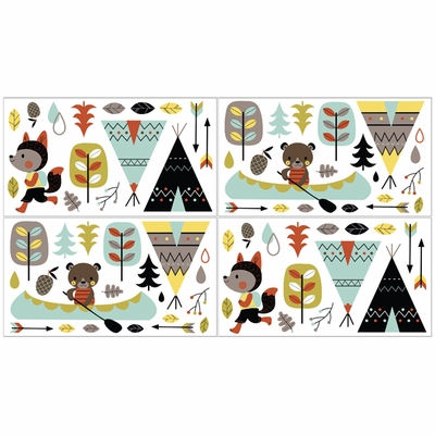 Outdoor Adventure Collection Wall Decals Set Of 4 Sheets