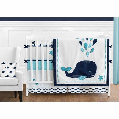 Whale Crib Bedding Collection