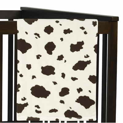 Wild West Collection Plush Baby Blanket - Cow Print