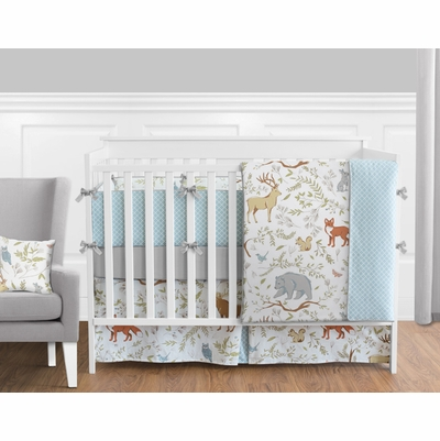 Woodland Toile Crib Bedding Collection