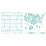 Lifestyle Letterpress Plates --Map